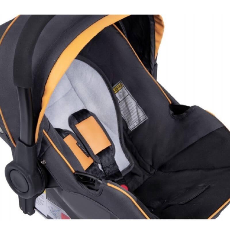 Κάθισμα Αυτοκινήτου Coletto 0-13kg με Βάση Isofix Grey Yellow