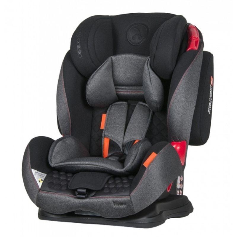 Κάθισμα Aυτοκινήτου Coletto Vivaro 9-36kg Black Grey