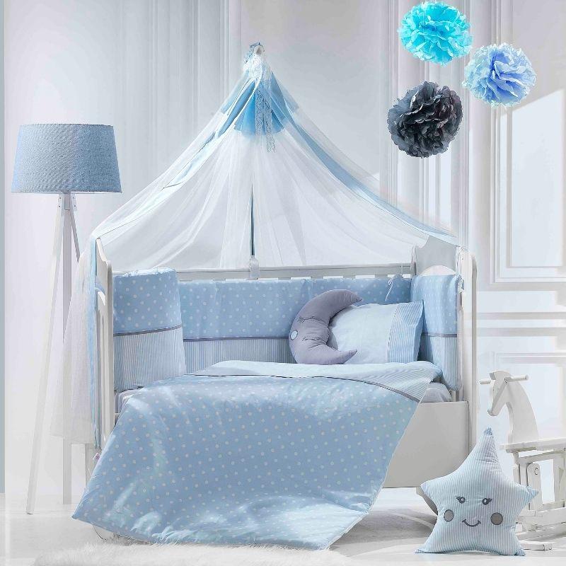 Προίκα Κρεβατιού Abo Carouzel 70x140 9 τμχ. Blue