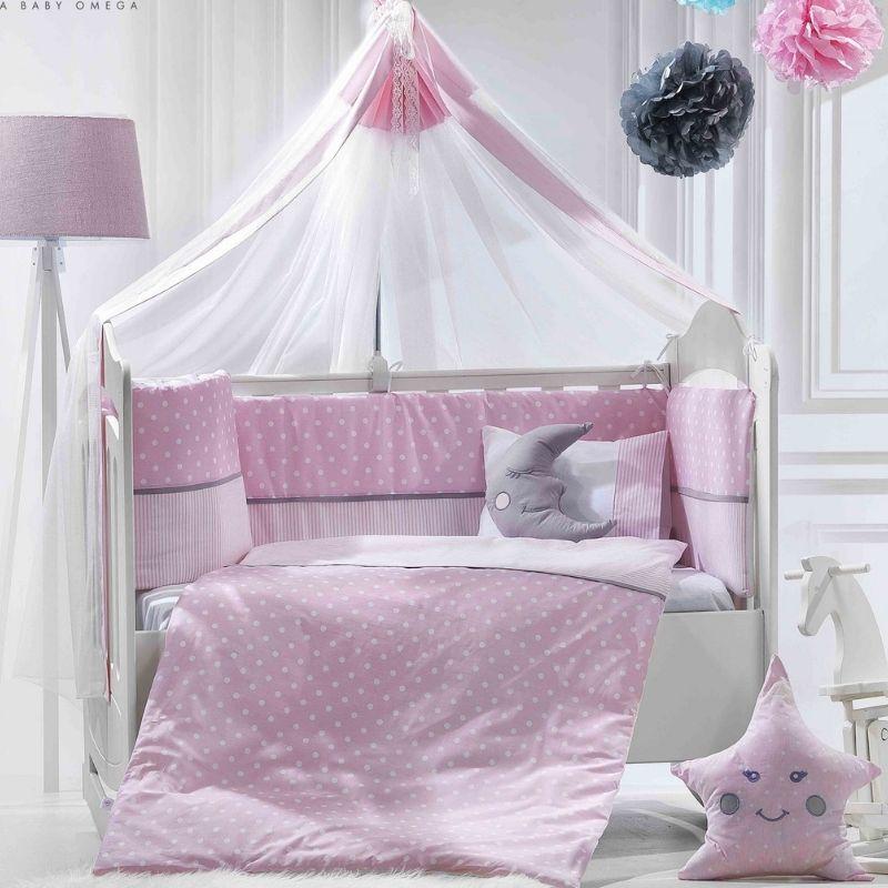 Προίκα Κρεβατιού Abo Carouzel 70x140 9 τμχ. Pink
