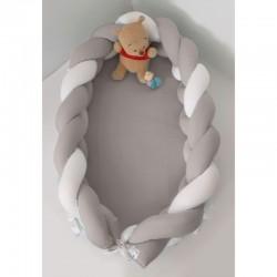 Βρεφική Φωλιά Baby Oliver με αποσπώμενη Πλεξούδα Λευκή Μόκα