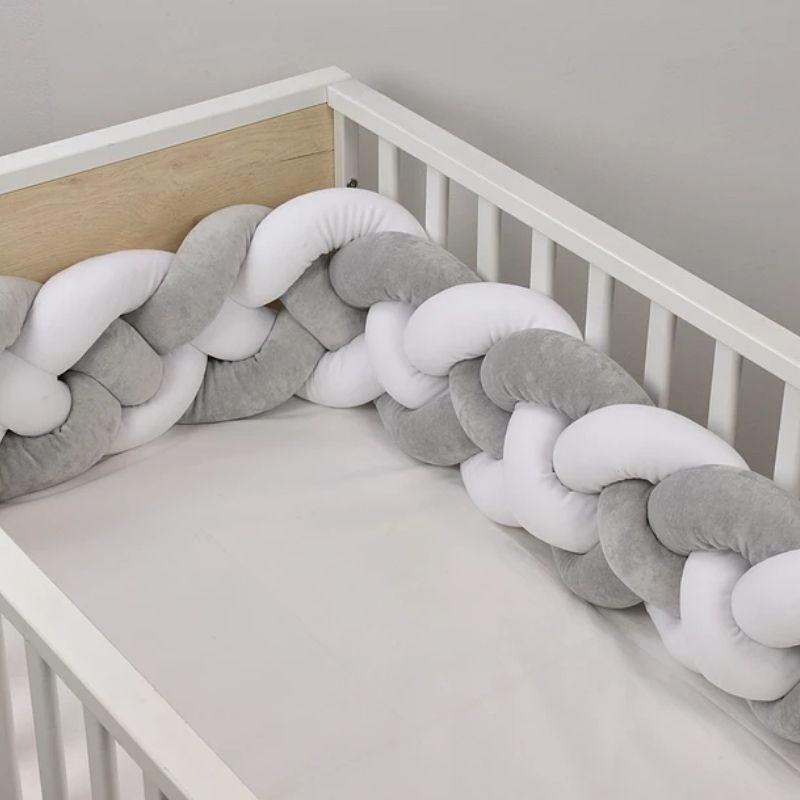 Βρεφική Πάντα πλέξουδα βελουτέ Baby Oliver Λευκό Γκρι