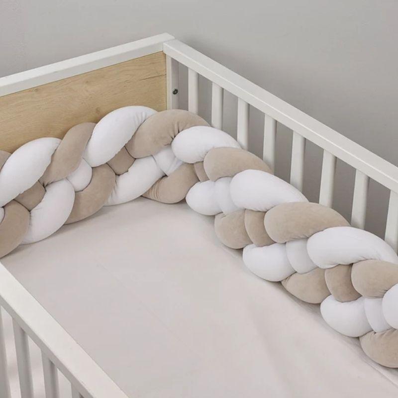 Βρεφική Πάντα πλέξουδα βελουτέ Baby Oliver Λευκό Μπεζ