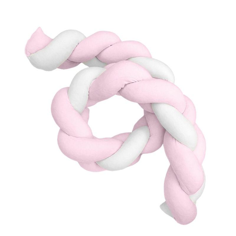 Βρεφική Πάντα πλέξουδα βελουτέ Baby Oliver Λευκό Ροζ