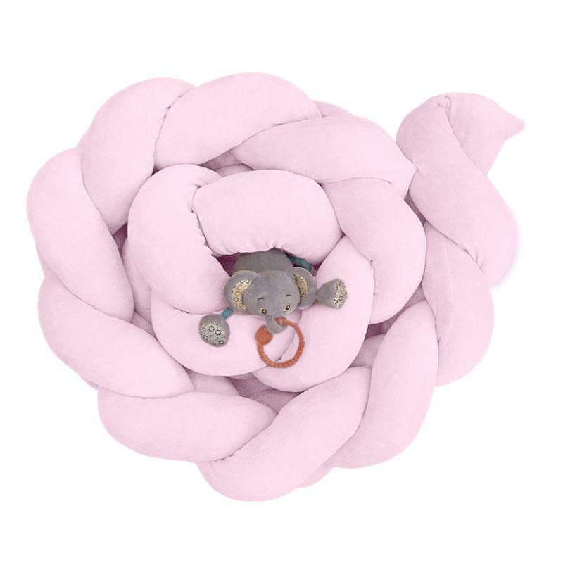 Βρεφική Πάντα πλέξουδα βελουτέ Baby Oliver Ροζ