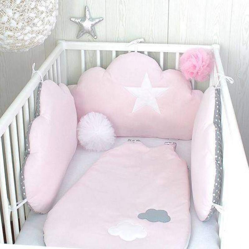 Πάντα Κρεβατιού Baby Star Cloud Pink