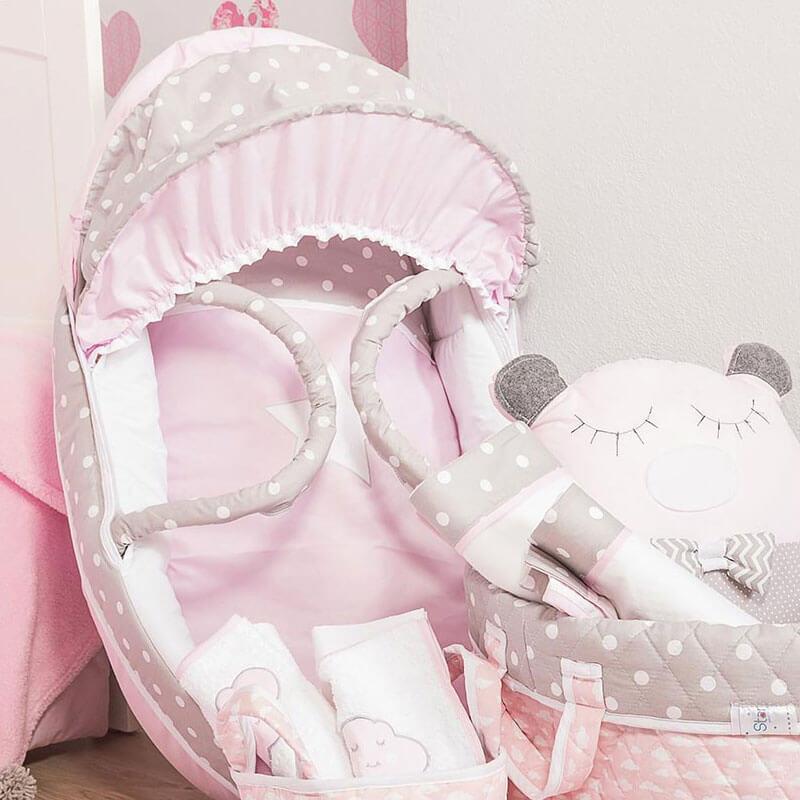Καλαθούνα Baby Star Sugar Σύννεφο Ροζ