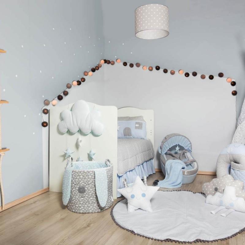 Βρεφική προίκα κρεβατιού Baby Star Sugar Family Blue