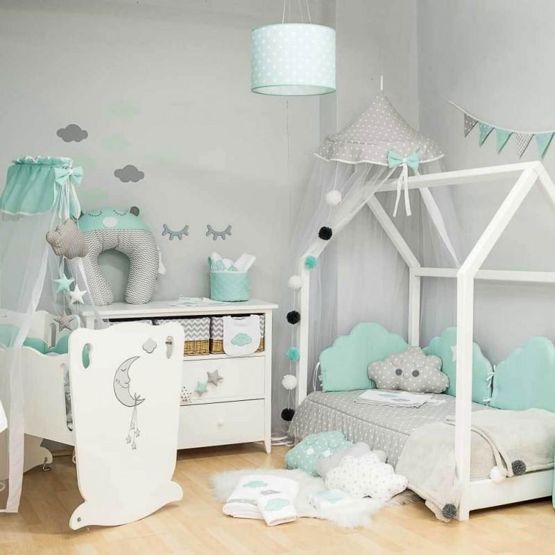 Βρεφική προίκα κρεβατιού Baby Star Sugar Family Mint