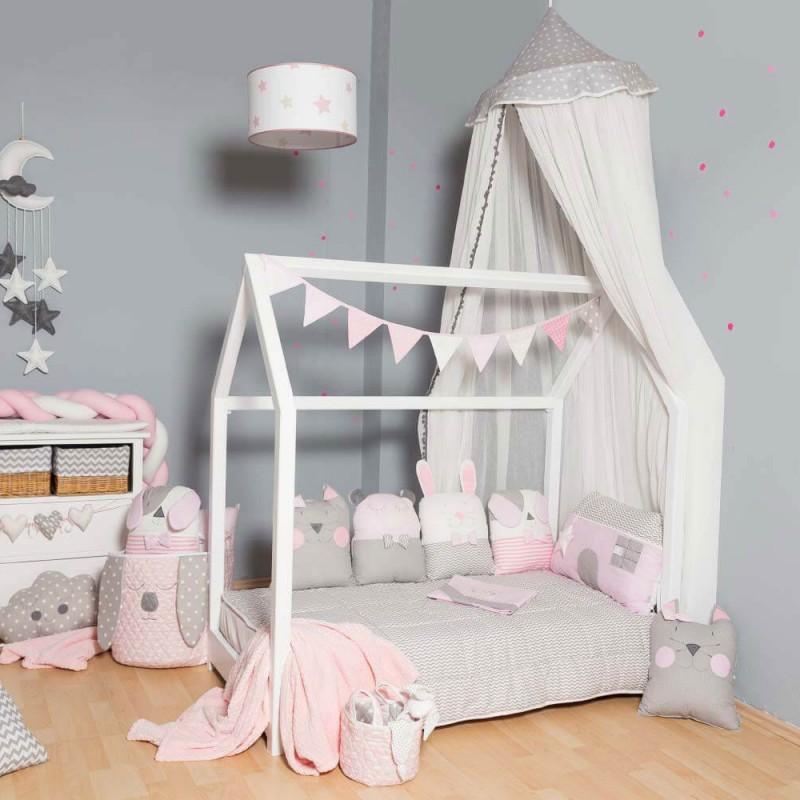 Βρεφική προίκα κρεβατιού Baby Star Sugar Family Pink