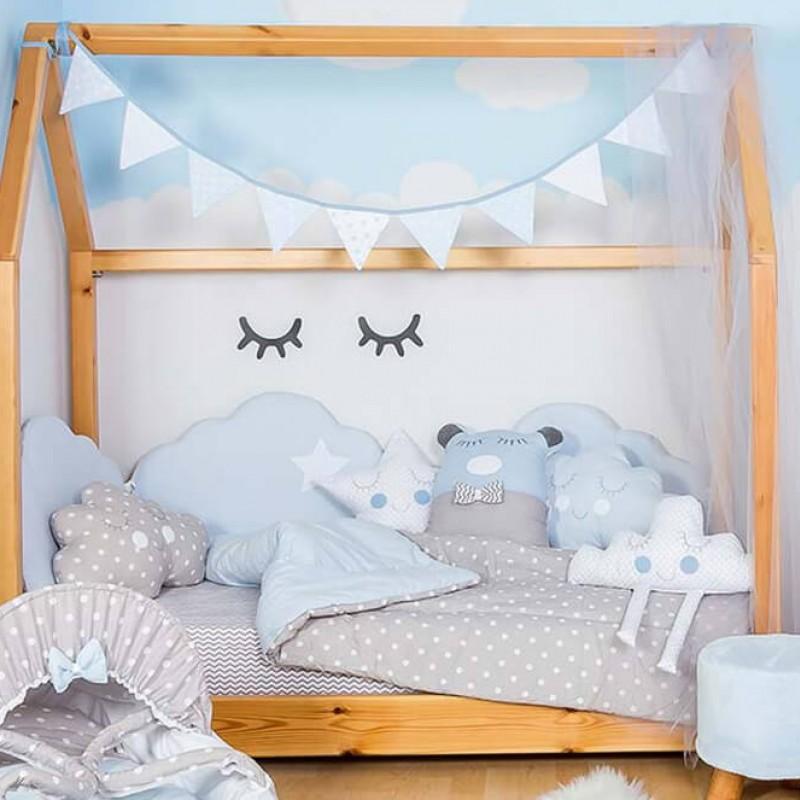 Βρεφική προίκα κρεβατιού Baby Star Cloud Blue