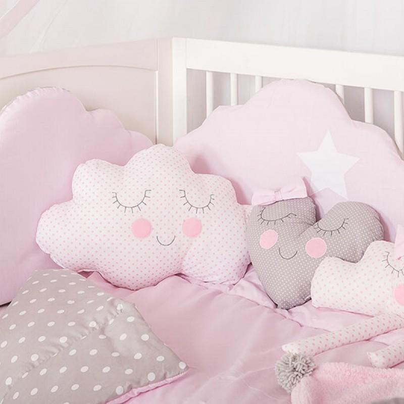 Βρεφική προίκα κρεβατιού Baby Star Cloud Pink