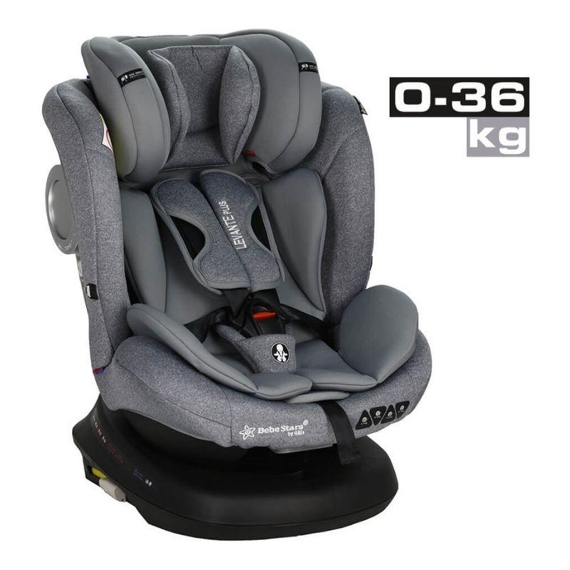 Κάθισμα Αυτοκινήτου Bebe Stars Levante Plus Isofix 360° Grey