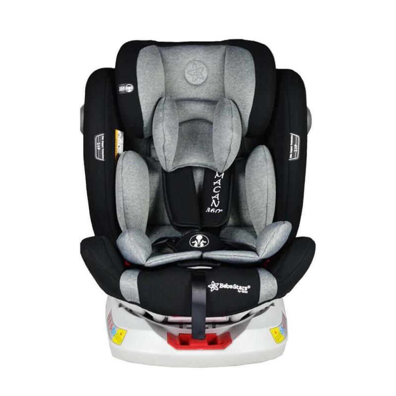 Κάθισμα αυτοκινήτου Bebe Stars Macan Isofix 360° 0-36kg Grey