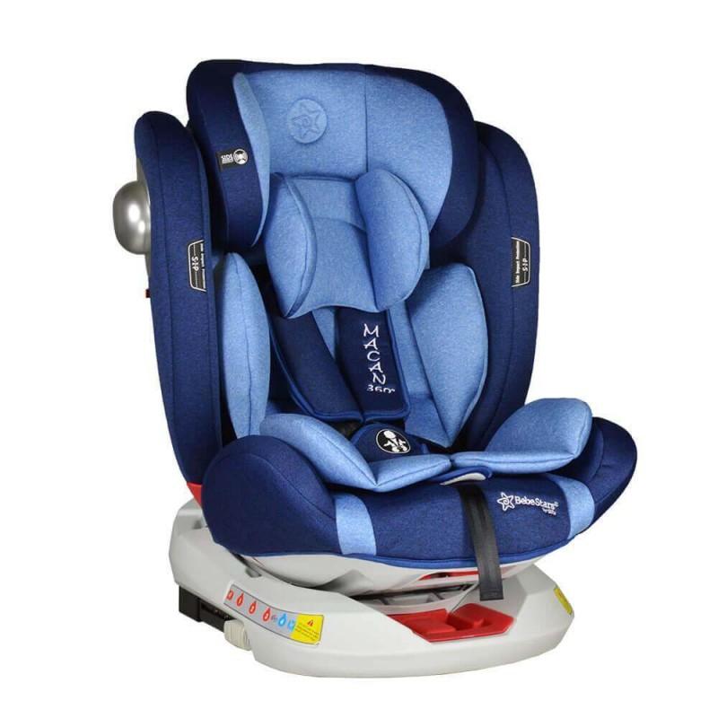 Κάθισμα αυτοκινήτου Bebe Stars Macan Isofix 360° 0-36kg Navy