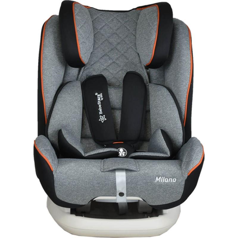 Κάθισμα αυτοκινήτου Bebe Stars Milano Isofix Graphite