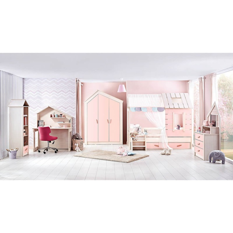 Συρταριέρα Bebe Stars Pink House