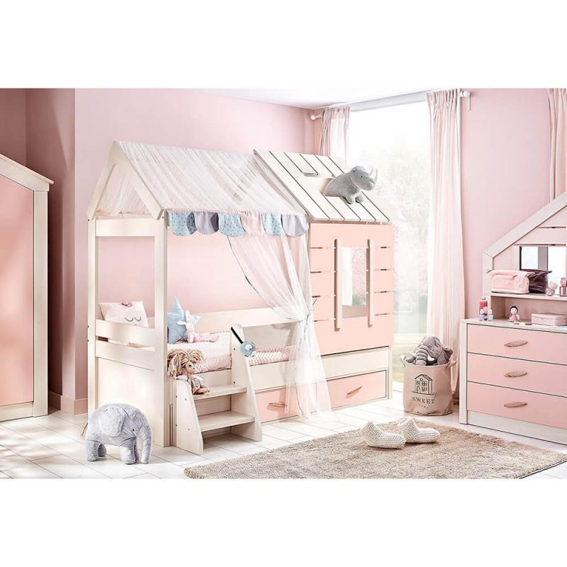 Παιδικό κρεβάτι Bebe Stars Pink House