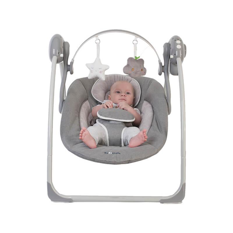 Ηλεκτρική Κούνια - Ρηλάξ Bo Jungle Portable Swing Grey
