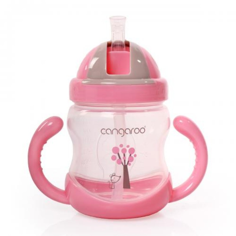 Εκπαιδευτικό Κύπελλο με καλαμάκι Cangaroo Boo 280ml Pink