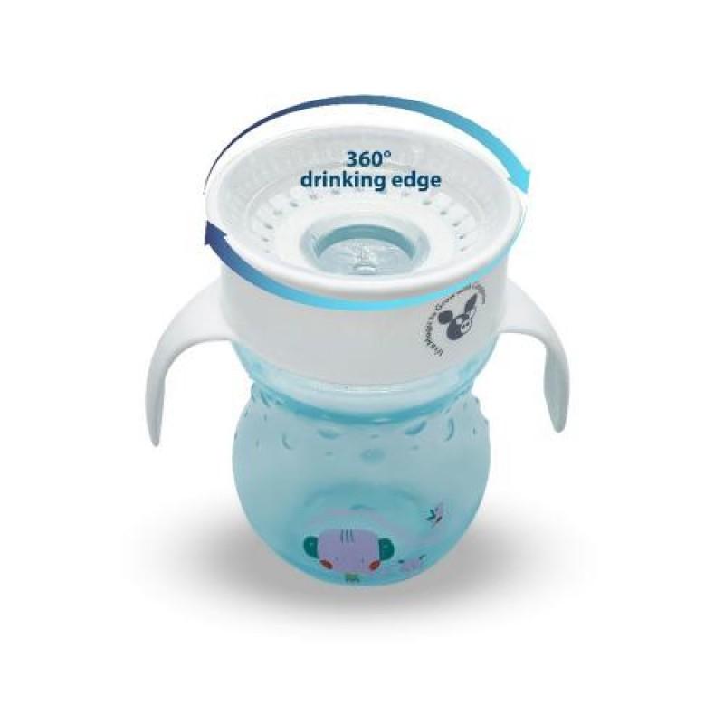 Εκπαιδευτικό Κύπελλο με λαβές 360° Cangaroo Magic Cup 270ml Blue