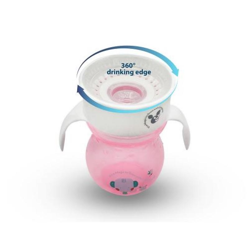Εκπαιδευτικό Κύπελλο με λαβές 360° Cangaroo Magic Cup 270ml Pink