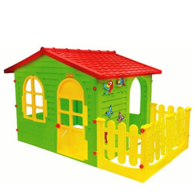 Σπιτάκι κήπου Garden House Mochtoys Με Φράχτη 10498