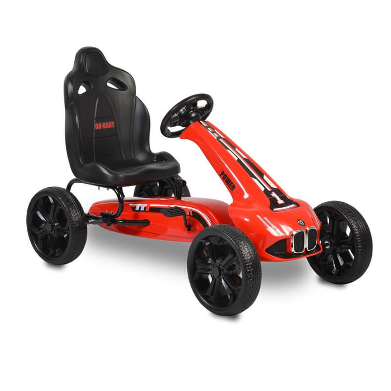 Παιδικό αυτοκινητάκι Moni Go Cart Eva Wheels Monte Carlo Red