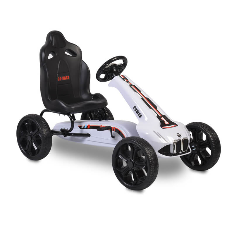 Παιδικό αυτοκινητάκι Moni Go Cart Eva Wheels Monte Carlo White