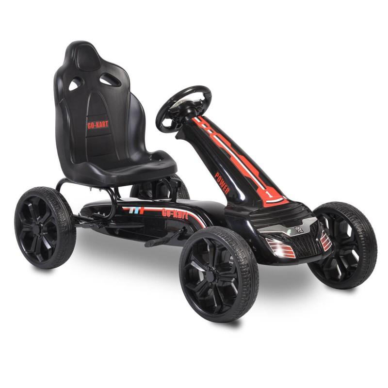Παιδικό Αυτοκινητάκι Moni Go Kart με πετάλια Eva Wheels Olympus Black