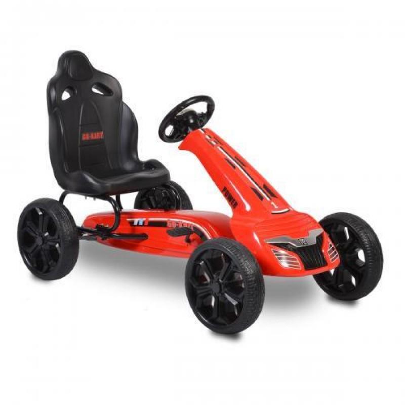 Παιδικό Αυτοκινητάκι Moni Go Kart με πετάλια Eva Wheels Olympus Red