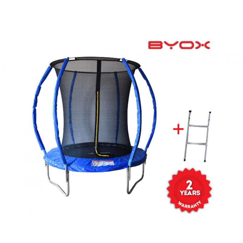 Τραμπολίνο Με Δίχτυ Και Σκάλα Byox Trampoline Fun 183cm
