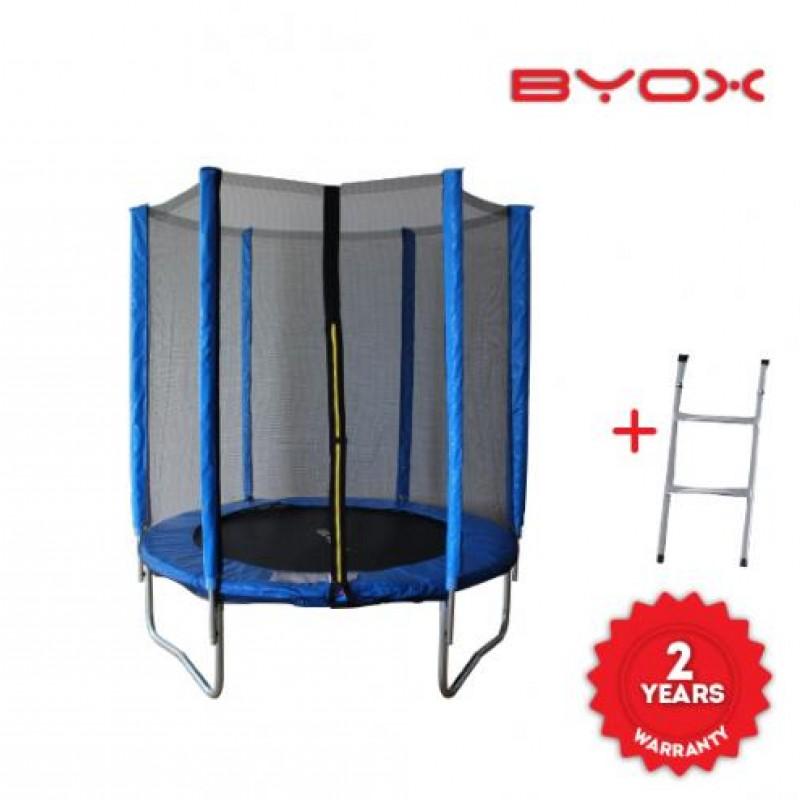 Τραμπολίνο Με Δίχτυ Και Σκάλα Byox Trampoline Jump 183cm