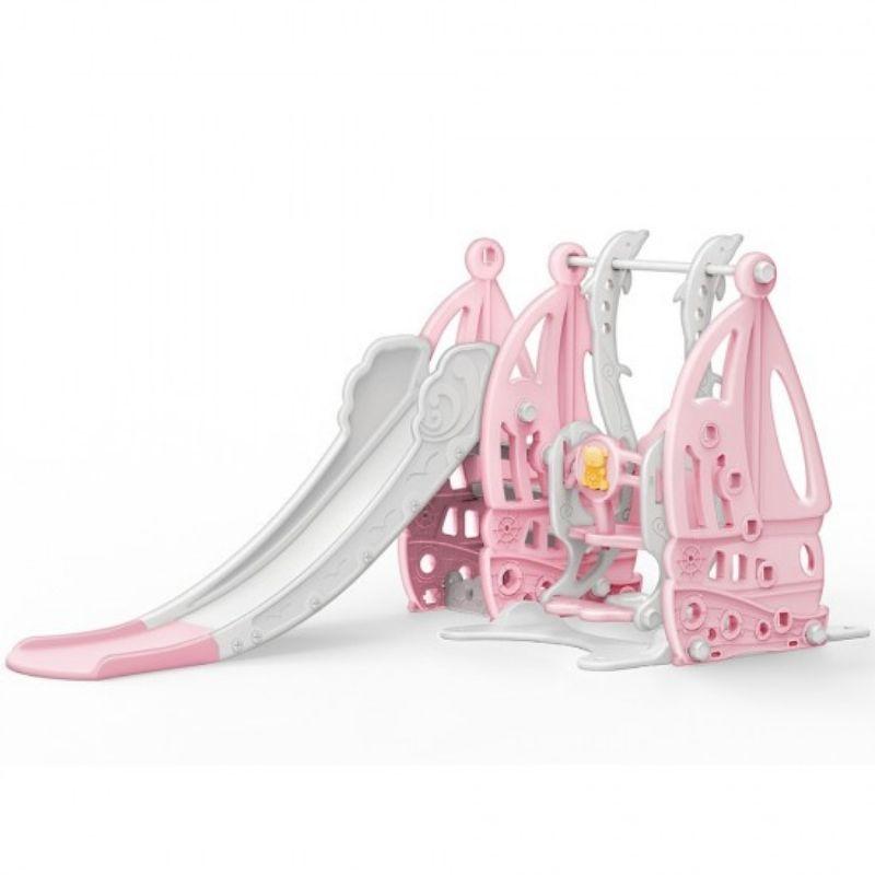 Τσουλήθρα με κούνια Moni Coco 19016 Pink