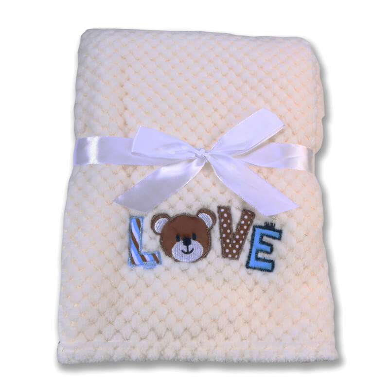 Κουβέρτα αγκαλιάς Cangaroo Fleece Freya 80x110cm White