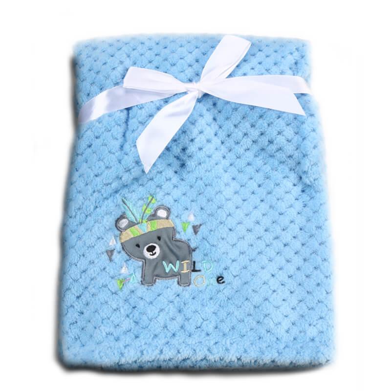 Κουβέρτα αγκαλιάς Cangaroo Fleece Freya 80x110cm Blue