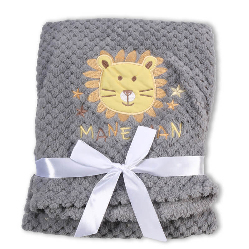 Κουβέρτα αγκαλιάς Cangaroo Fleece Freya 80x110cm Grey