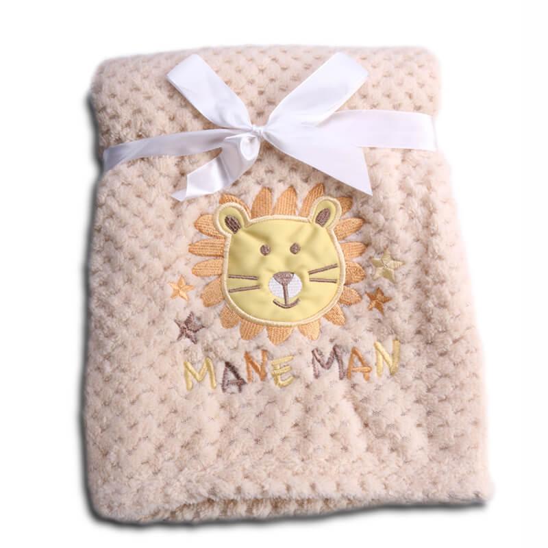 Κουβέρτα αγκαλιάς Cangaroo Fleece Freya 80x110cm Beige
