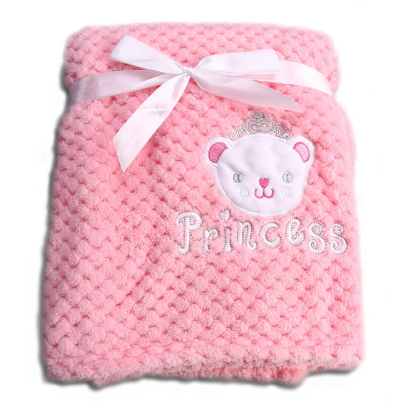 Κουβέρτα αγκαλιάς Cangaroo Fleece Freya 80x110cm Pink