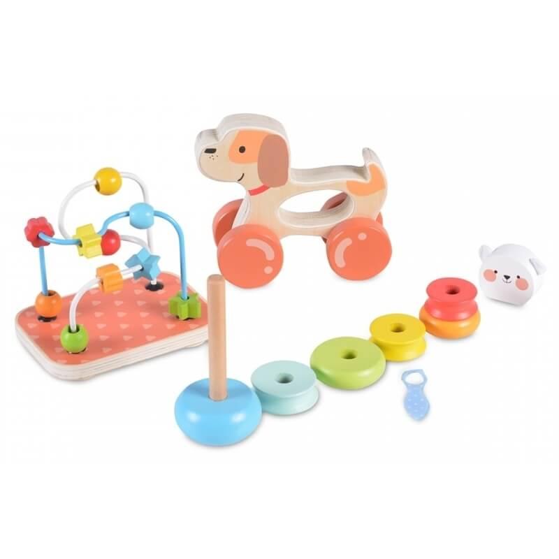 Εκπαιδευτικό Σετ Ξύλινων Παιχνιδιών Moni 2203 (3τμχ.)