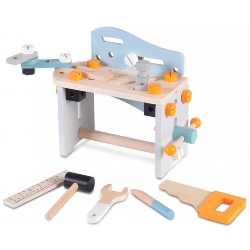 Ξύλινος Πάγκος με εργαλεία Moni Wooden Tools Set
