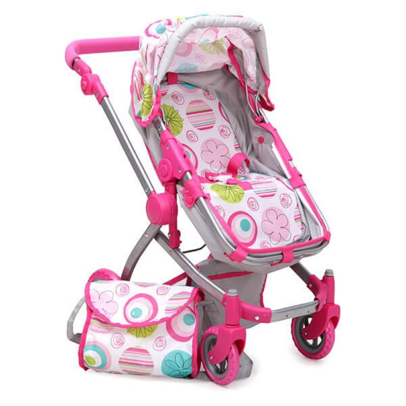 Καρότσι για κούκλες Moni Pink Rose 9651B