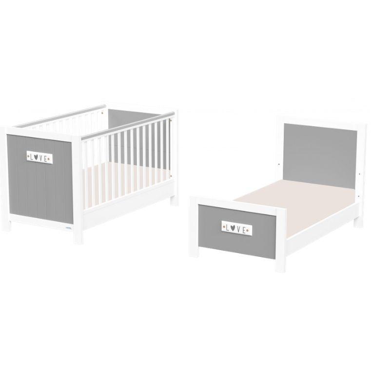 Βρεφικό κρεβάτι Casababy Petit μετατρεπόμενo σε προεφηβικό