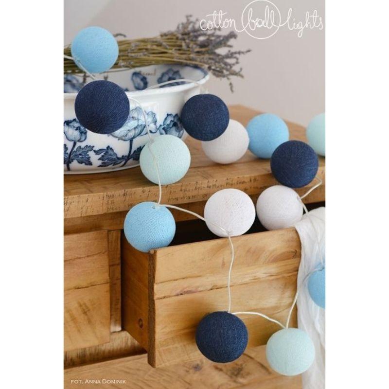 Διακοσμητικά Φωτάκια LED Cotton Ball Lights (20τμχ) Big Blue