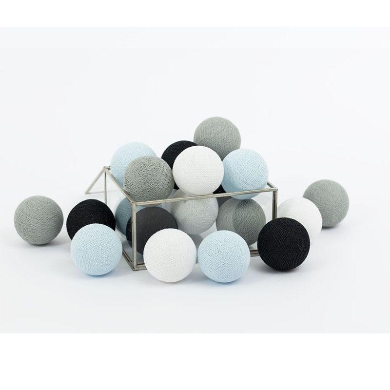 Διακοσμητικά Φωτάκια LED Cotton Ball Lights (20τμχ) Blue Dream