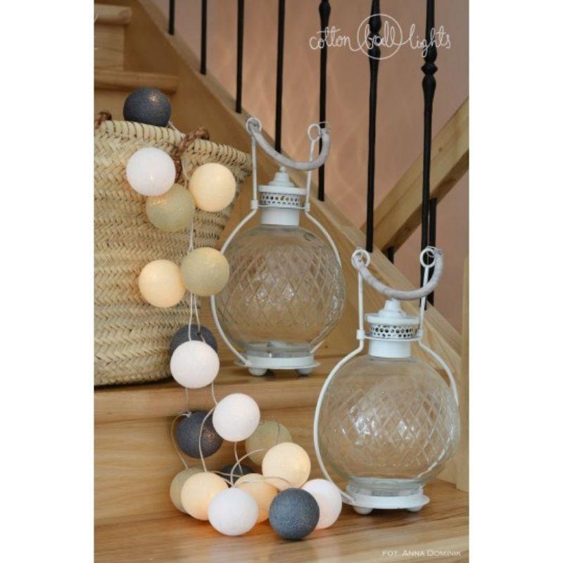 Διακοσμητικά Φωτάκια LED Cotton Ball Lights (20τμχ) Misty