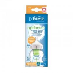 Πλαστικό Μπιμπερό Dr.Brown's™ Options+ με φαρδύ λαιμό 150ml