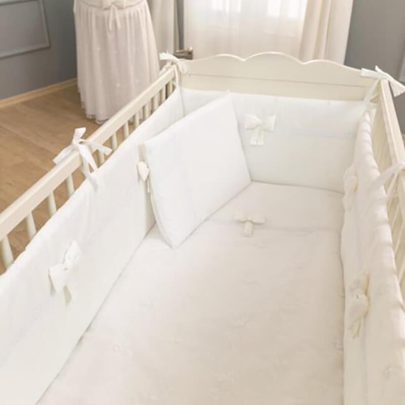 Σετ Προίκας Funna Baby Κούνιας 3τεμ. 192x40cm Premium White