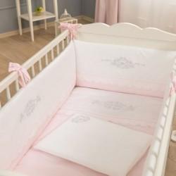 Σετ Προίκας Funna Baby Κούνιας 3τεμ. 192x40cm Princess