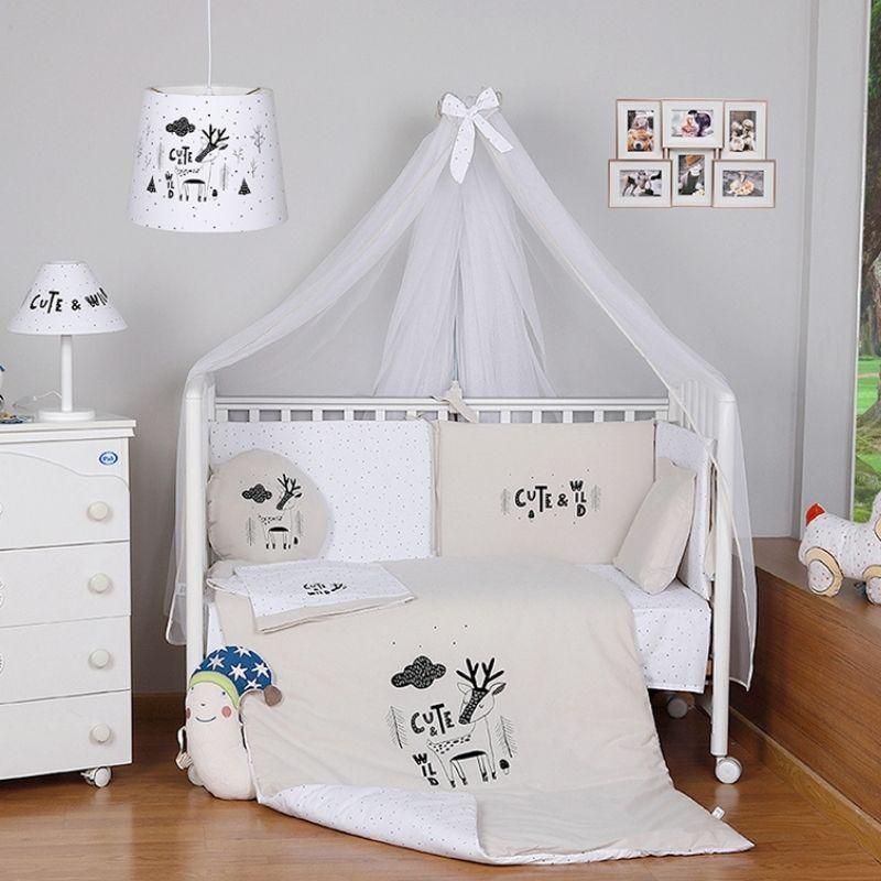 Σετ προίκας μωρού Funna Baby Cute & Wild Beige 8 τμχ